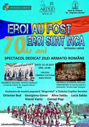 Spectacol dedicat Zilei Armatei Române la Baba Novac