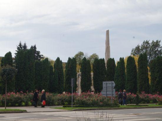 Președintele Iohannis va fi primit la Carei la umbra tuielor de 9m ce protejează Monumentul Ostașului Român