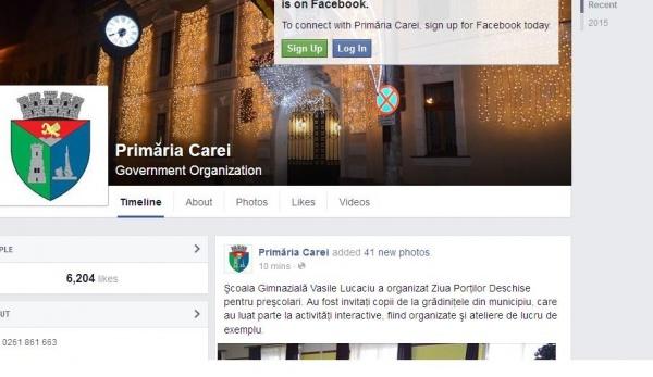 S.O.S.! Cenzură pe pagina de Facebook a Primăriei Carei! Dispar subit materialele ce nu convin.Discriminare culturală, sportivă…