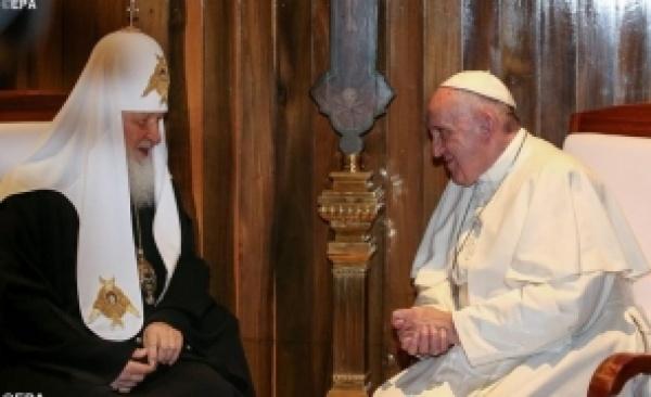 Declaraţia comună de la întâlnirea istorică dintre Papa Francisc și Patriarhul Bisericii Ortodoxe Ruse