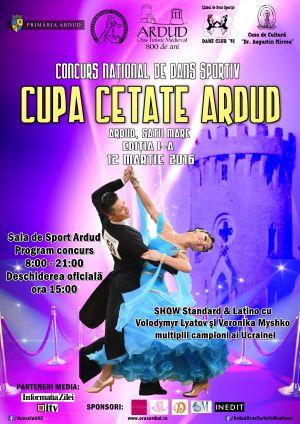 """Prima ediţia a concursului naţional de dans sportiv """"Cupa Cetate Ardud"""""""