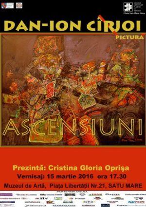 """Expoziţie de pictură ,,Ascensiuni"""" la Muzeul de Artă Satu Mare"""