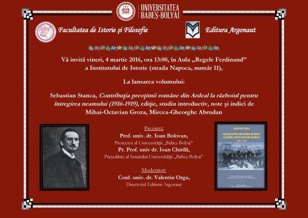 Lansare de carte la Universitatea Babeş-Bolyai Cluj