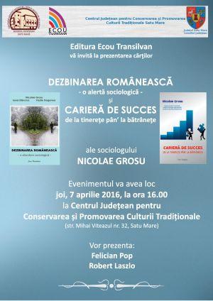 Lansare de carte a sociologului  Nicolae Grosu