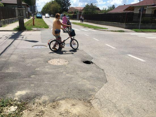 Surpare pe strada Viilor. Atenţie şoferi,atenţie biciclişti