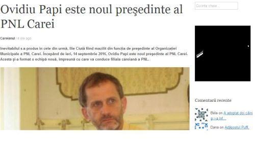 Finul preşedintelui UDMR Carei anunţă mazilirea preşedintelui PNL Carei. Lipseşte comunicatul oficial