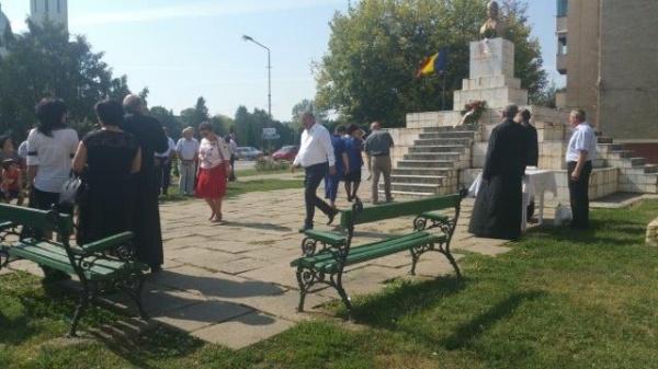 Comemorare ad-hoc la bustul lui Avram Iancu din Carei