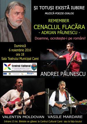 Remember Cenaclul Flacăra la Carei. Andrei Păunescu în program