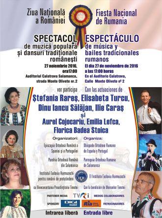 Spectacol folcloric la Salamanca de Ziua Națională a României