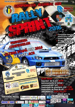 Înscrieri pentru ultima etapă a Rally Sprint