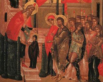 Zi de sărbătoare. Intrarea Maicii Domnului în Biserică