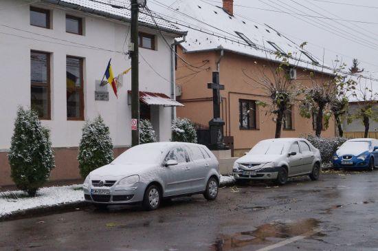 Careiul la prima ninsoare din acest sezon