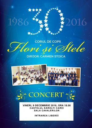 """Concert al Corului de copii """"Flori și stele"""" din București la Castelul din Carei"""