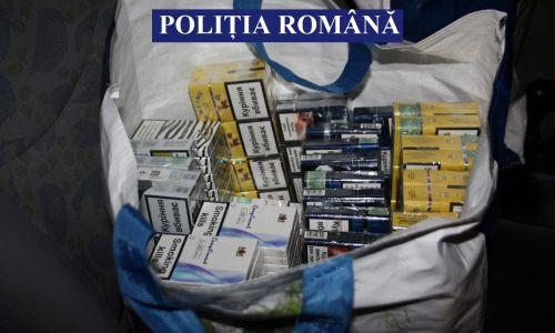 Țigări fără documente legale, ridicate de polițiști