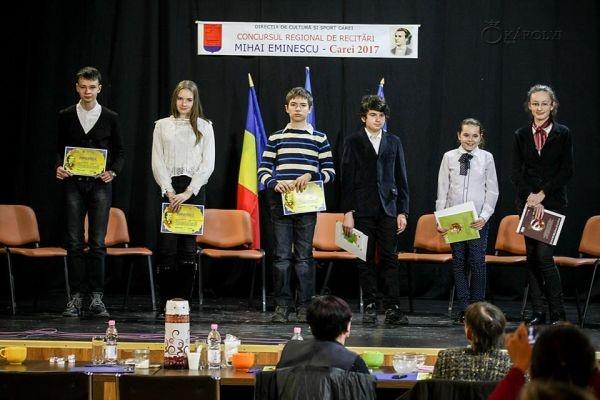 Premiile concursului de recitări Mihai Eminescu