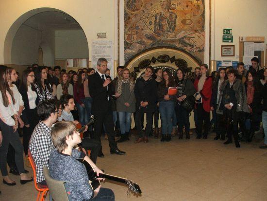 Mihai Eminescu omagiat la Colegiul care îi poartă numele