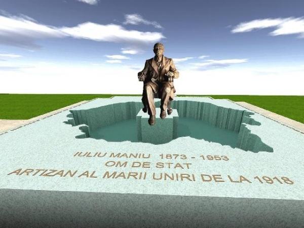Memorial  Iuliu Maniu la Şimleu-Silvaniei. Inaugurare la data de 5 februarie
