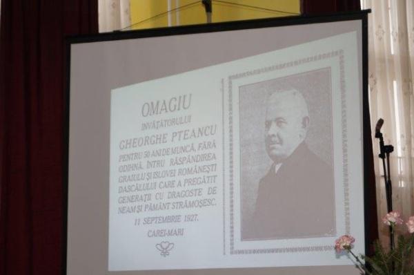 Personalităţi careiene. George Pteancu, dascăl de excepţie. Membru onorar al învăţământului primar şi Cetăţean de Onoare