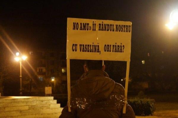 Protest la Carei, a doua zi