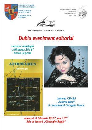 Lansare de carte şi CD de muzică folk al cantautoarei Georgeta Govor