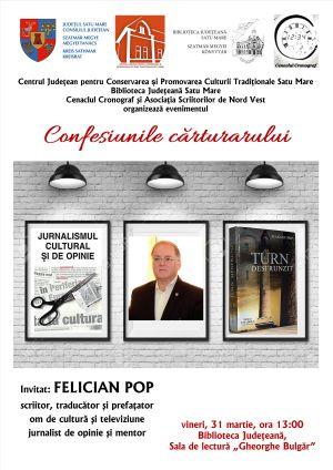 """""""Confesiunile cărturarului"""", o nouă inițiativă culturală"""