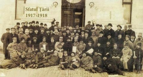 Pe 27 martie 1918 Sfatul Ţării a votat unirea Basarabiei cu România