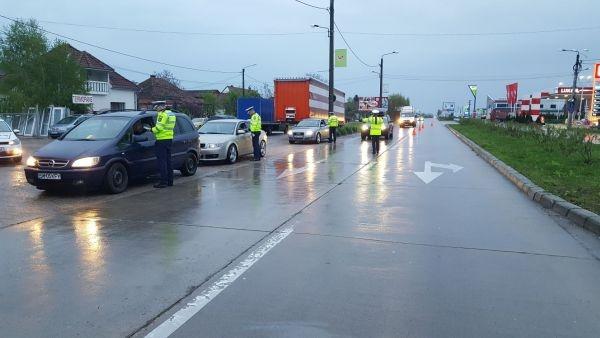 Poliţia Rutieră a luat cu asalt principalele artere de circulaţie