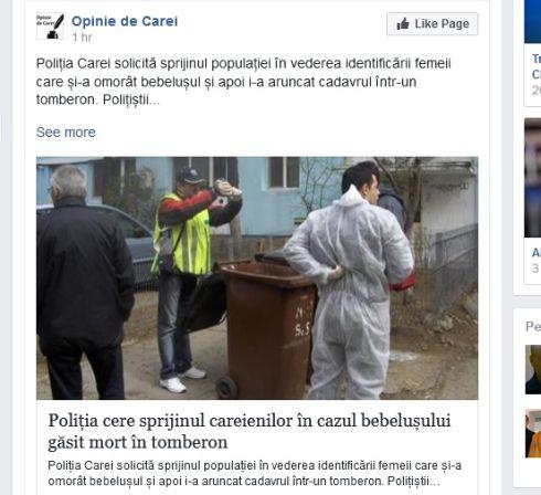 Numele Poliţiei Carei folosit abuziv  de un bloger plătit de UAT Municipiul Carei