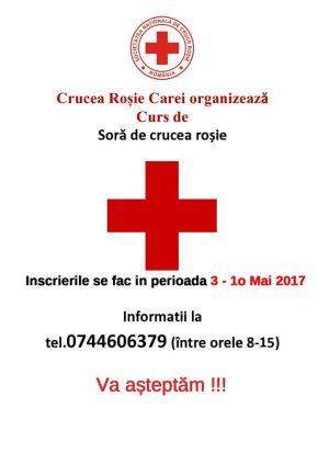 Înscrieri la cursul de surori organizat de Crucea Roşie Carei
