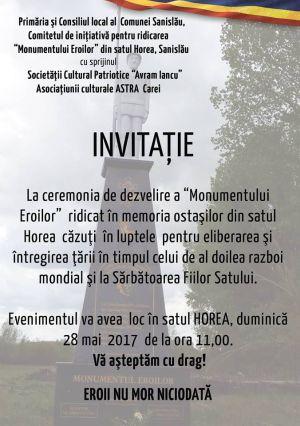 Invitaţie la Horea