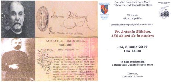 Un veac și jumătate de la nașterea lui Antoniu Băliban