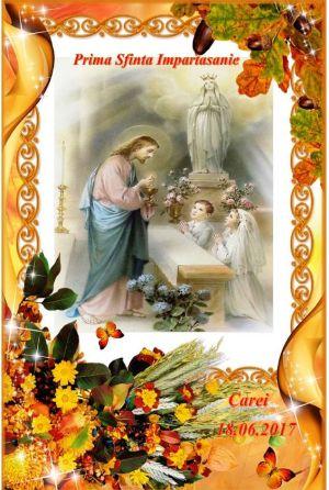 Prima Sfântă Împărtăşanie la biserica Sf.Anton