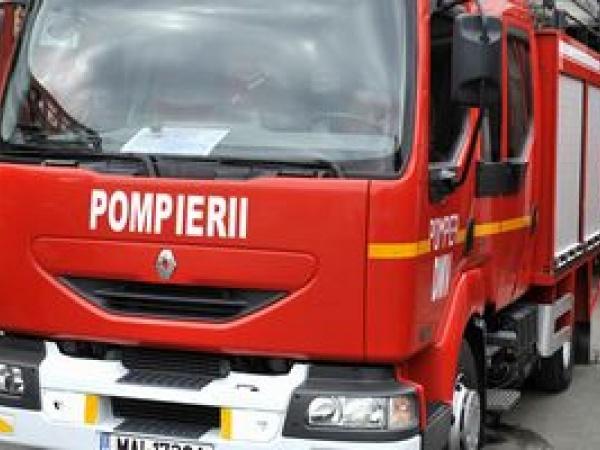 Incendiu la Carei într-un autobus gol