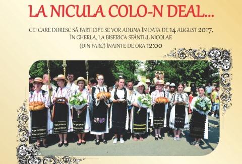 """Procesiunea """"La Nicula colo-n deal"""" în ajun de  sărbătoare a Adormirii  Maicii Domnului"""