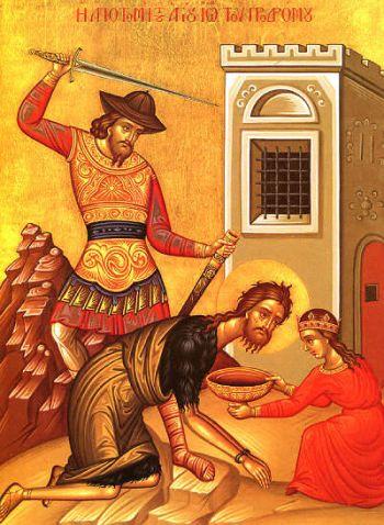 Zi de sărbătoare creştină. Tăierea capului Sfântului Ioan Botezatorul