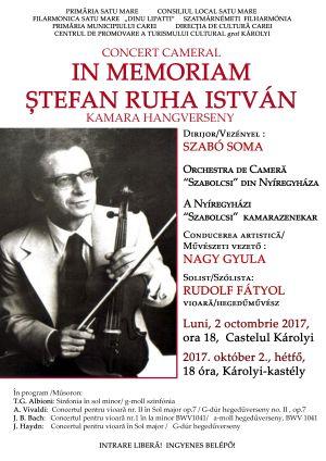 Concert în memoria marelui violonist ȘTEFAN RUHA