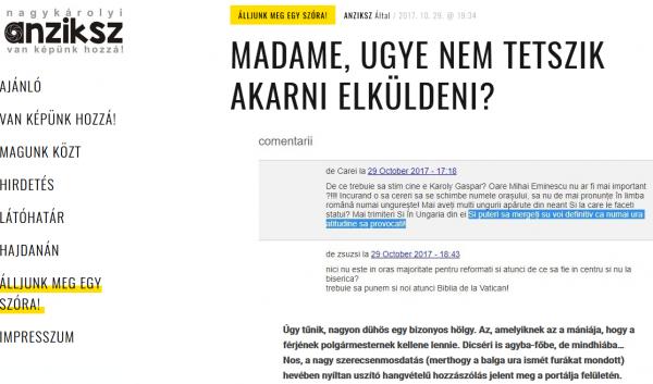 Preocupările consilierului personal al primarului Kovacs de la UATM Carei. Provocare sau hărţuire?