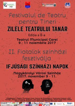 """A doua ediţie a Festivalului Regional de Teatru pentru tineri """"Zilele Teatrului Tânăr"""" de la Carei"""