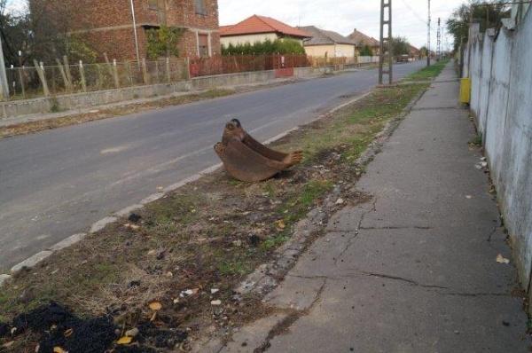 Strada Nicolae Iorga din Carei, strada cu 2 rânduri de canalizare