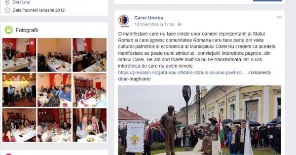 Asociaţia Unirea ia atitudine împotriva  modului de organizare a dezvelirii grupului Otilia Marchiş-Ady Endre