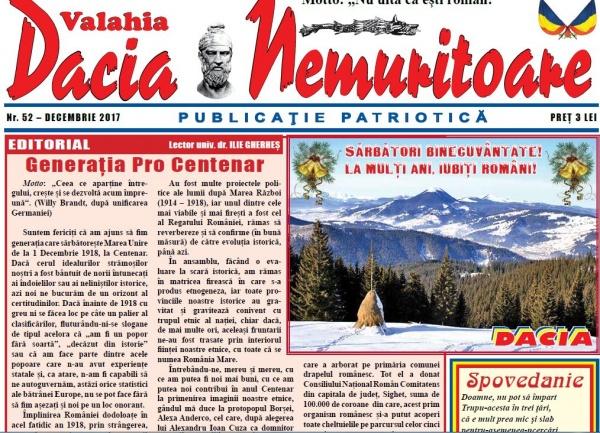 Revista Dacia Nemuritoare la numărul 52