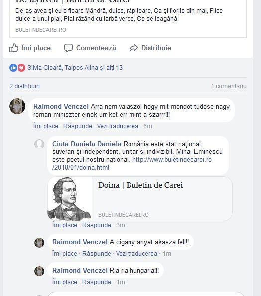 Se întâmplă în România. Postarea unei poezii de Mihai Eminescu atrage injurii şi denigrări
