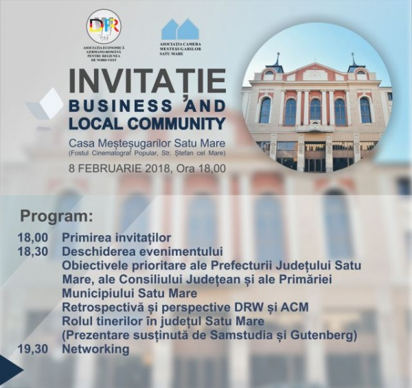 "Invitaţie la evenimentul ""Business & Local Community"""