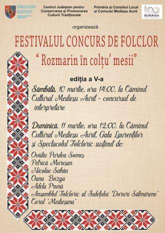 """""""Rozmarin în colţu' mesii"""" – Festival concurs de folclor"""
