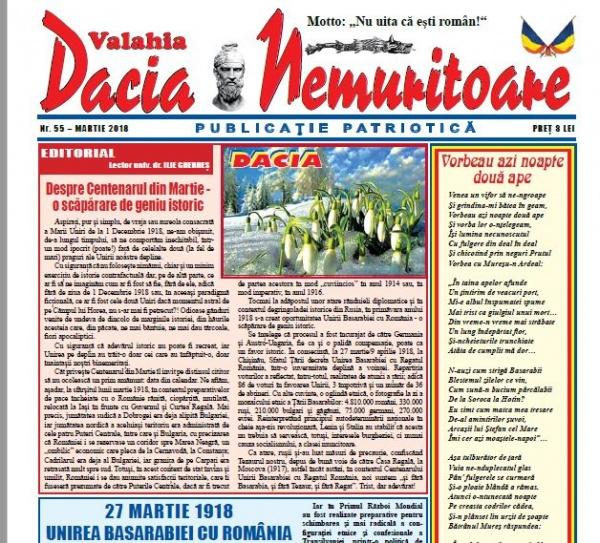 Revista Dacia Nemuritoare la numărul 55