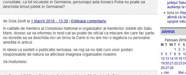 Prietenul lui Szasz consilierul primarului din Carei dovedit de Jobikk că minte!
