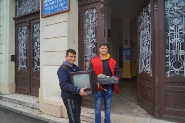 Patrula de reciclare de la Colegiul Tehnic Iuliu Maniu Carei