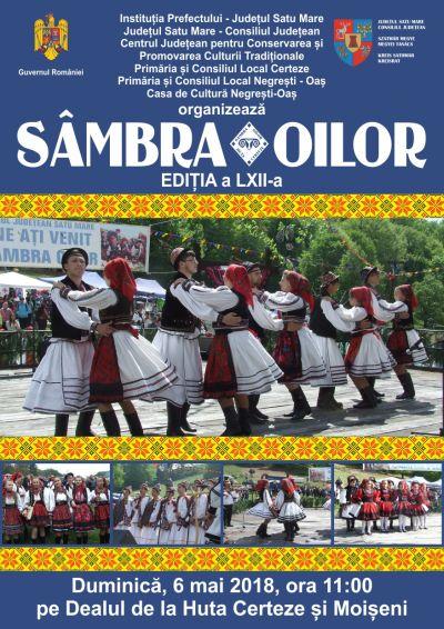 """Program. Festivalul Folcloric """"Sâmbra Oilor"""" la cea de-a LXII – a ediție"""