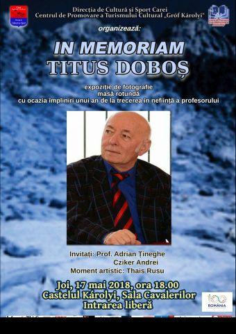 """""""In Memoriam Titus Doboș"""""""