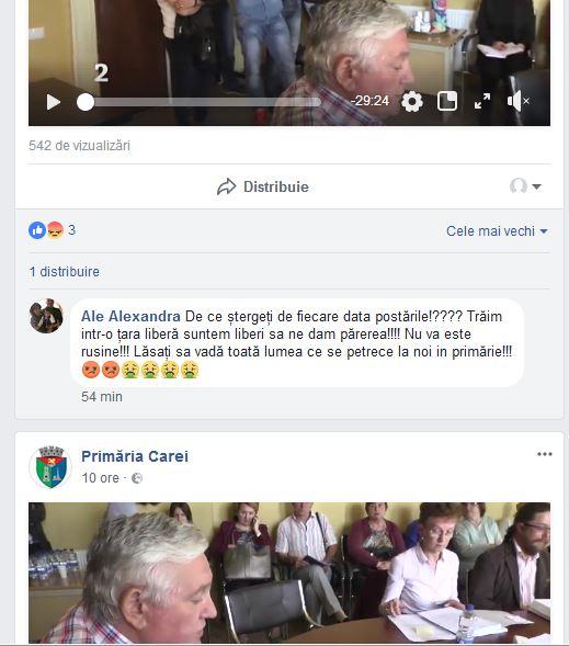 PRIMĂRIA CAREI ŞTERGE comentariile careienilor de pe pagina sa de Facebook! Buletin de Carei este discriminat şi nu are drept la comentarii